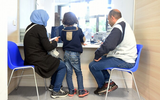 A family applying for international protection. Photo is illustrative.