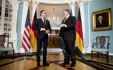 Heiko Maas ja Mike Pompeo 23. mail Washingtonis.