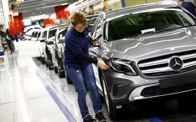 Mercedesed valmimas Saksamaal Rastatti tehases.