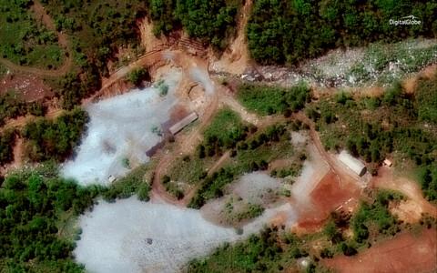 Фотография со спутника ядерного полигона Пхунгери
