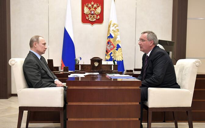 Vladimir Putin ja Dmitri Rogozin.