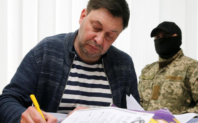 RIA Novosti Kiievi kontori juht Kirill Võšinski kohtus.