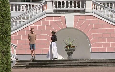 Репетиции Русского театра на мызе Сагади.