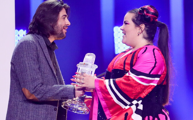 Möödunud aasta Eurovisiooni võitnud Salvador Sobral ja seekordne võitja Netta