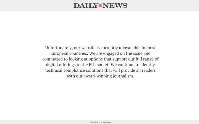 Piiranguteade New York Daily Newsi lehel.