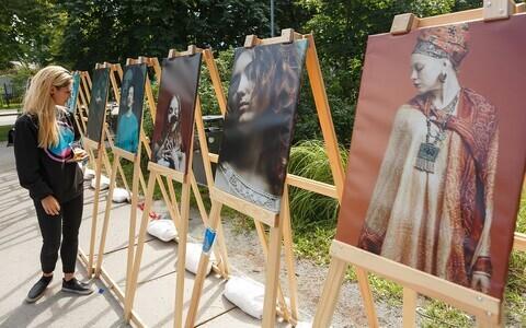 Прошлогодняя выставка на площади Пельгулинна.