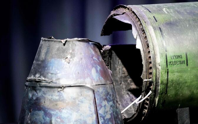 Osa raketist BUK-TELAR, millega MH17 2014. aastal väidetavalt alla tulistati.