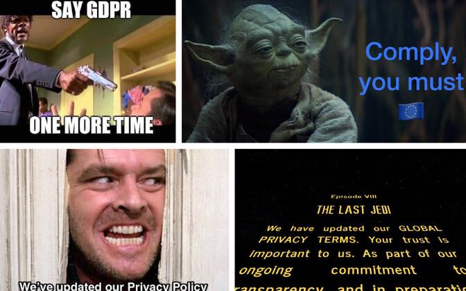 Veebihuumor EL-i isikuandmete kaitse üldmääruse (GDPR) teemal.