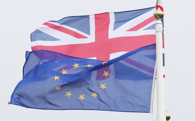 Suurbritannia ja Euroopa Liidu lipp.