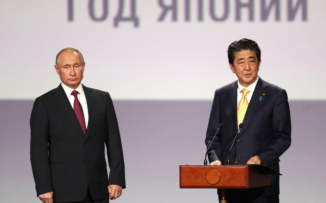 Venemaa president Vladimir Putin ja Jaapani peaminister Shinzo Abe.