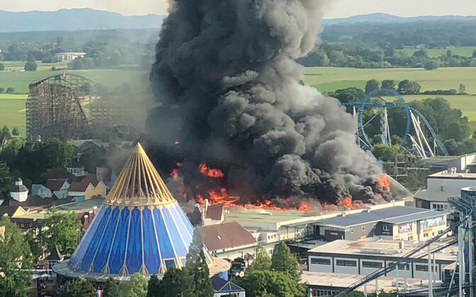 Пожар в Европа-парке.