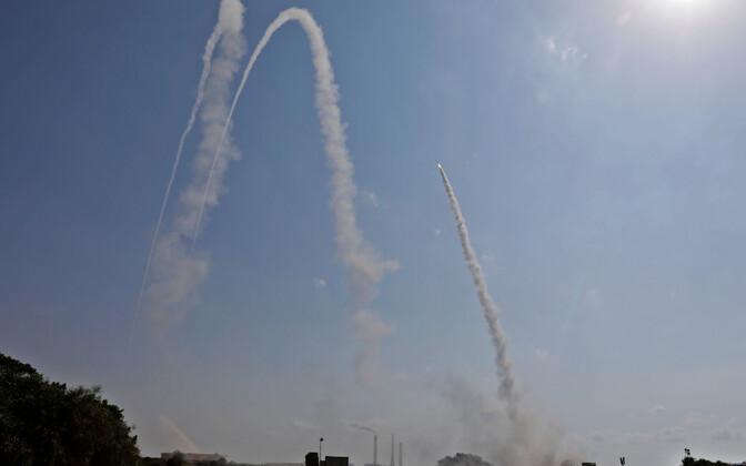 Iisraeli õhutõrjesüsteem Raudkuppel tegutsemas 29. mail.