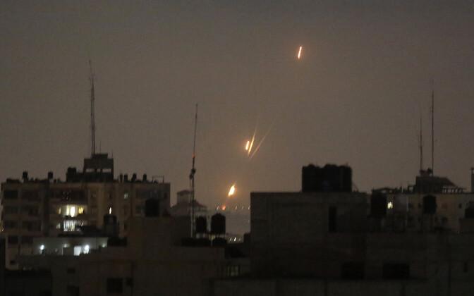 Gazast Iisraeli suunas lastud raketid ööl vastu 30. maid.