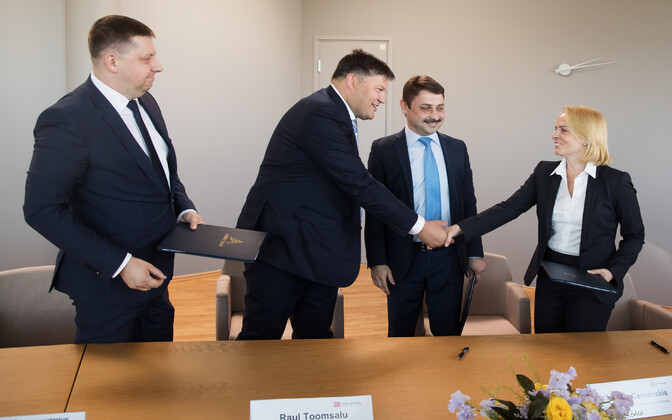 Amber Train agreement signed in Tallinn. 29 May, 2018.