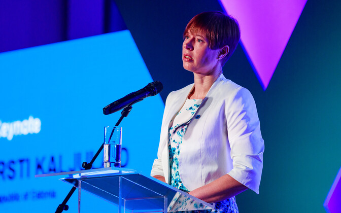 Estonian President Kersti Kaljulaid at CyCon 2018