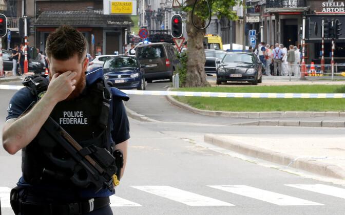 Belgia politseinik sündmuskohal Liège'is 29. mail.