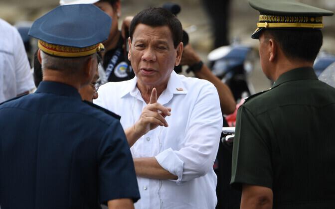 Filipiinide president Rodrigo Duterte.