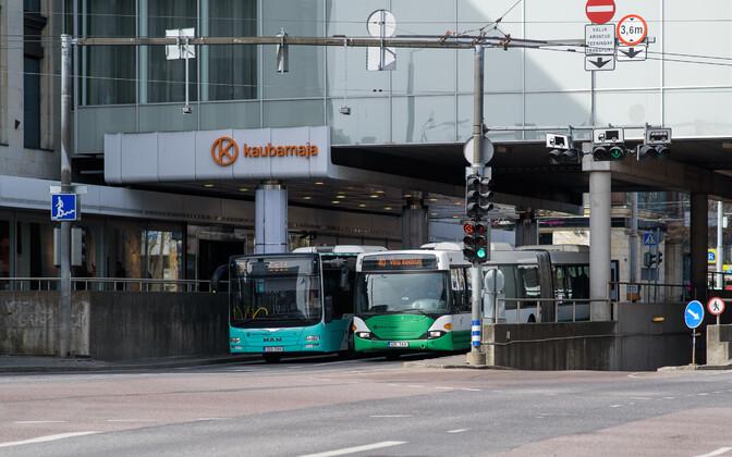 Автобусы - самый распространенный вид общественного транспорта в Таллинне.