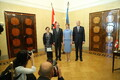 Austria president  Alexander Van der Bellen koos abikaasa Doris Schmidaueriga ja president Kersti Kaljulaid abikaasa Georgi-Rene Maksimovskiga