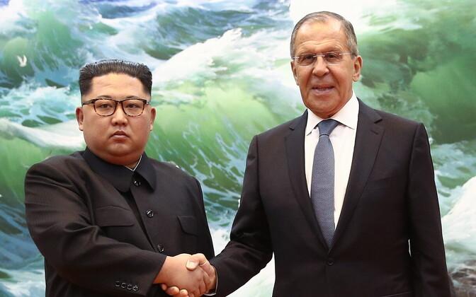 Põhja-Korea liider Kim Jong-un ja Venemaa välisminister Sergei Lavrov.