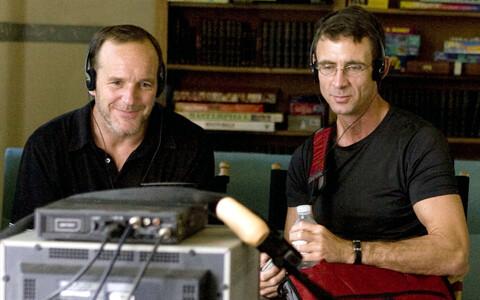 Kirjanik Chuck Palahniuk (paremal).