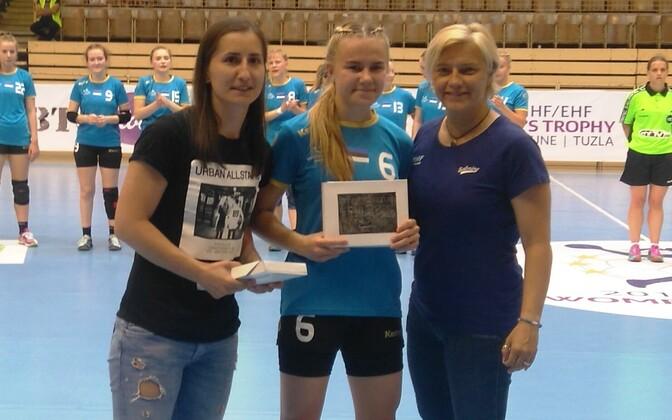Eesti koondise poolfinaali viinud võidumängus Moldova vastu sai parima mängija eriauhinna Mia-Marii Tedrekull.