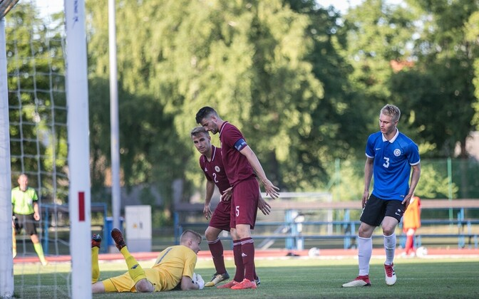 Eesti - Läti U-21 jalgpallikoondiste mäng Balti turniiril