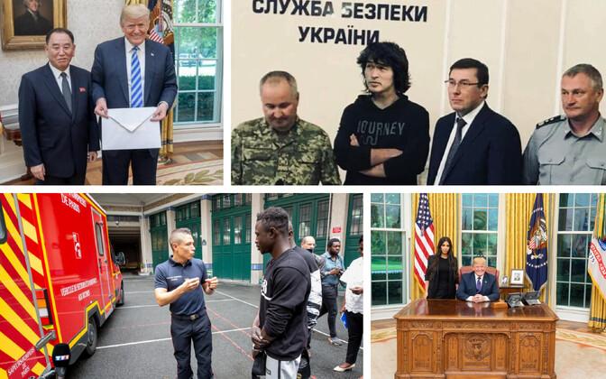 Trump, Põhja-Korea kindral ja Kim Jong-uni kiri (Dan Scavino); Veebihuumor Babtšenko juhtumi teemal (twitter.com/mdobkin); Pariisi