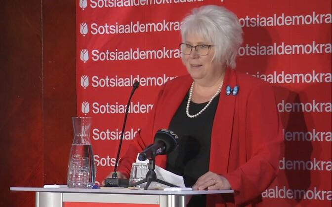 Марина Кальюранд вступила в Социал-демократическую партию.