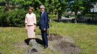 Austria president Alexander van der Bellen ja president Kersti Kaljulaid Saaremaal.