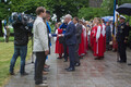 Flag Day being celebrated at the Governor's Garden on Tallinn's Toompea Hill. 4 June, 2018.