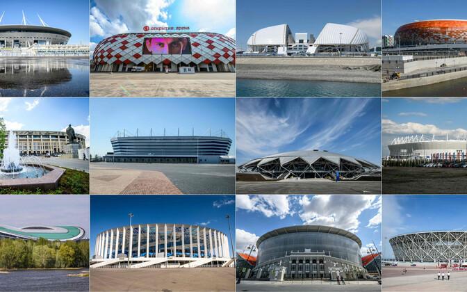 2018. aasta MM-i võõrustavad Venemaal 11 linna 12 staadionil.