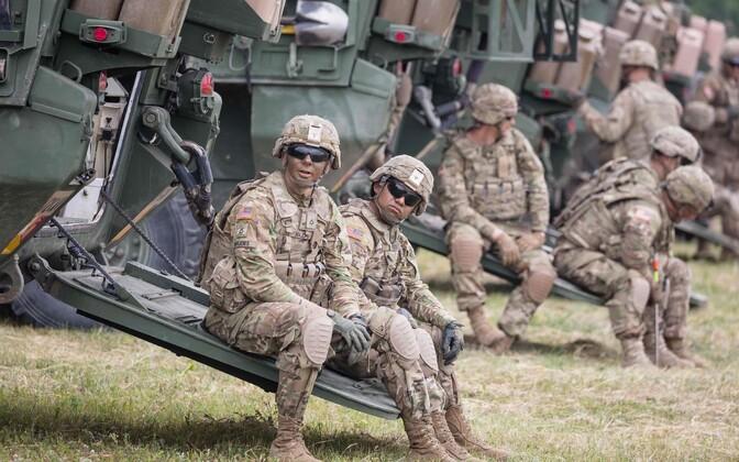 Американские солдаты в Польше на учениях Saber Strike-2017.
