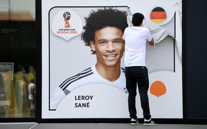 Leroy Sane poster Saksamaa jalgpalliliidus.