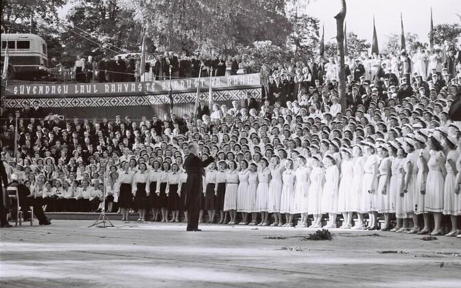Esimene Gaudeamuse festival Tartus 1956. aastal.