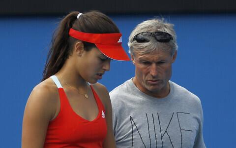 Nigel Sears koos oma endise hoolealuse Ana Ivanoviciga.