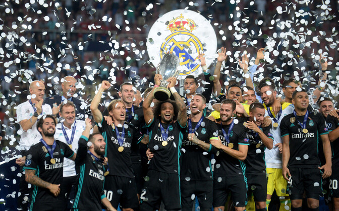 Real Madrid (pictured) have won the last two year's Super Cup finals