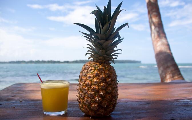 Ananassis leiduv ensüüm lõhub peptiidsidemeid.