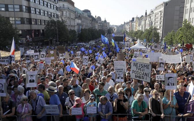 Meeleavaldajad Prahas.