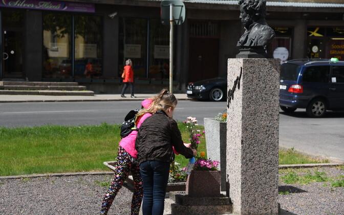 Памятник Пушкину в Нарве.