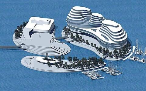 Проект искусственных островов на Пальяссааре.