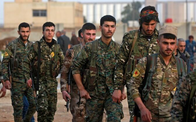 Kurdide Rahvakaitseüksuse (YPG) liikmed.