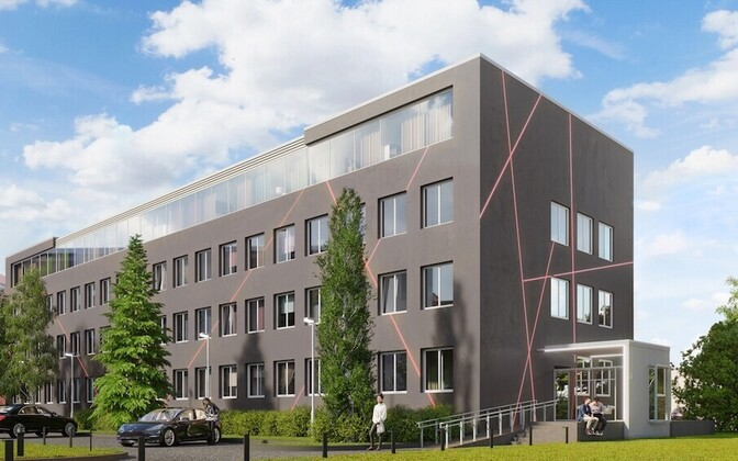 Artistic rendering of apartment build in Estonia. Many apartments are in new builds like this one.