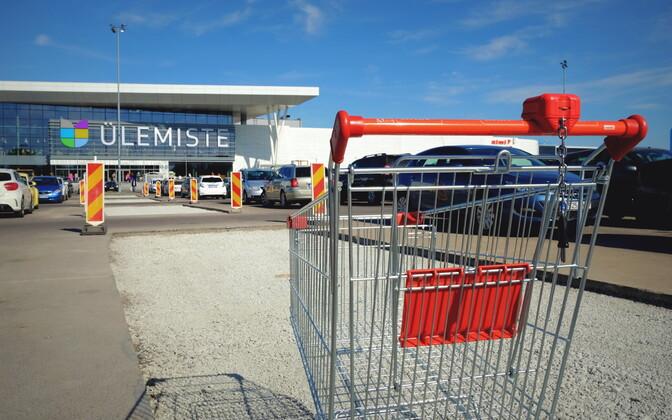 Shopping cart at Ülemiste Centre in Tallinn.