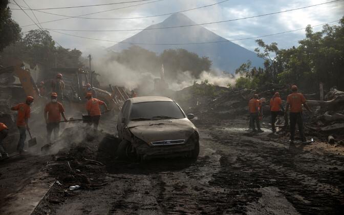 Olukord Fuego vulkaani lähistel.