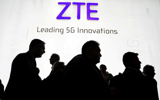 ZTE logo.