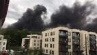 На Каламая горит здание.