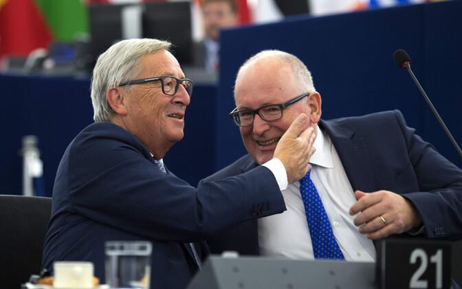 Jean-Claude Juncker ja Frans Timmermans.