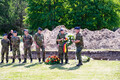 The remains of German soldiers uncovered during excavation work in Maarjamäe were reburied at Maarjamäe German Military Cemetery on Friday. 8 June, 2018.
