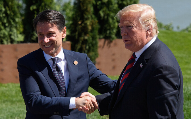 Giuseppe Conte ja Donald Trump.